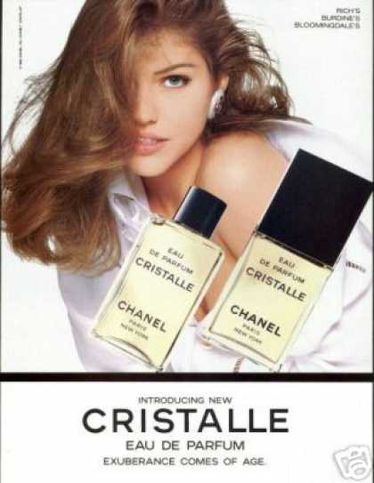 Tricia Helfer Photo Chanel Cristalle Perfume (1993)
