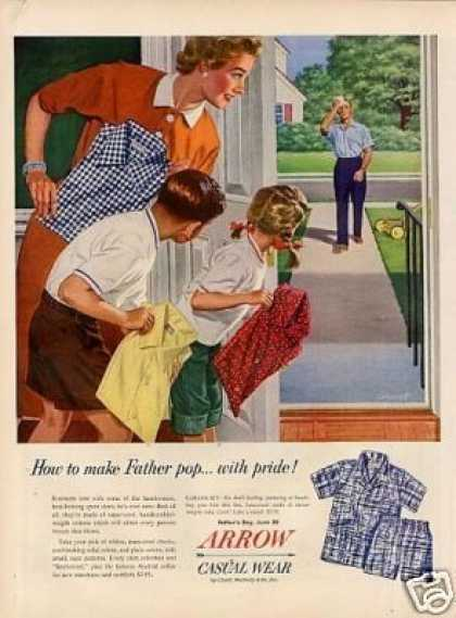 "Arrow Shirts Ad ""How To Make Father... (1954)"