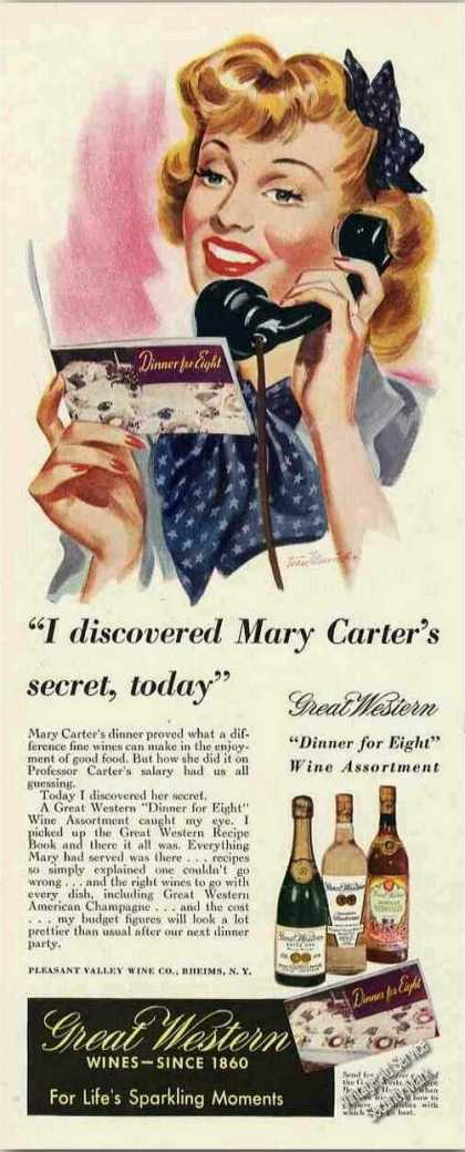 "Great Western Wines ""Mary Carter's Secret"" (1942)"