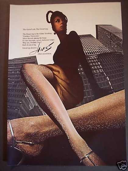 Hanes Glitter Stockings Great Leg Photo (1967)