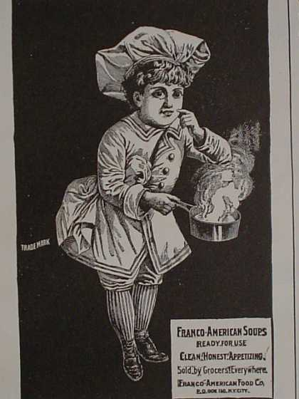 Franco American Soups Ready for use Clean Honest appetizing (1896)