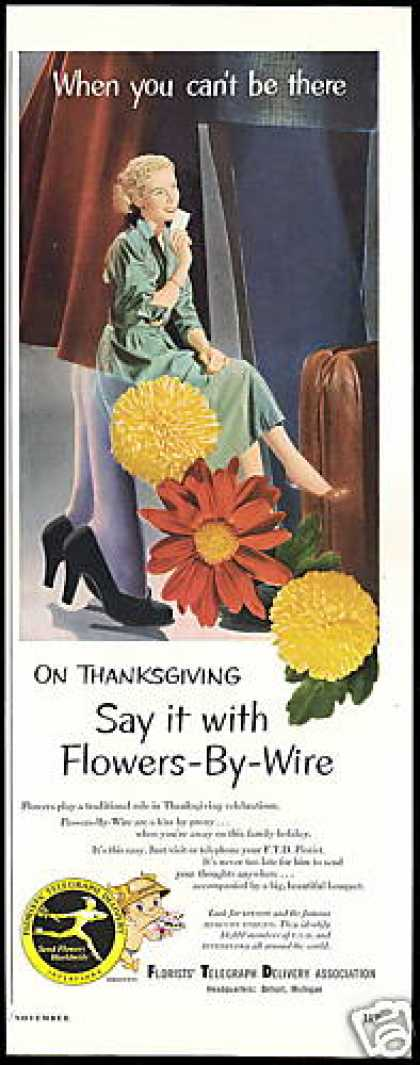 Ftd Florist Thanksgiving Flowers By Wire (1953)