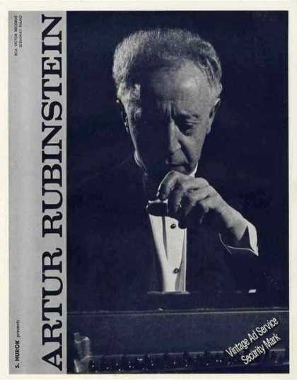 Artur Rubinstein Photo Pianist Trade (1960)