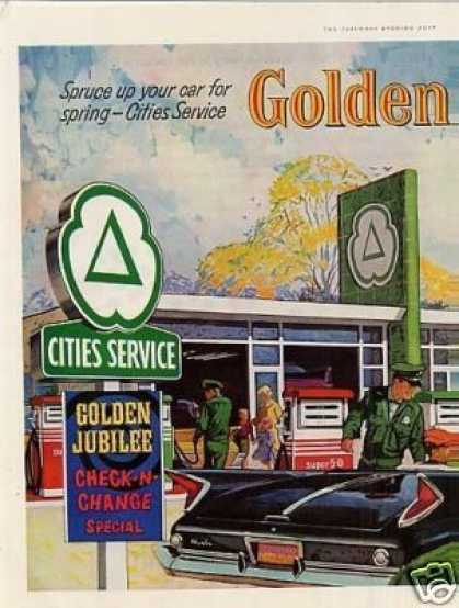 Cities Service 2 Page Ad Gas/service Station (1960)