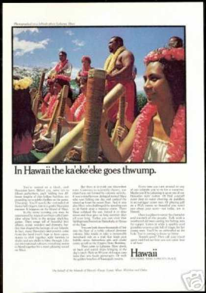 Hawaii Hawaiian Performers Thwump Maui Travel (1974)