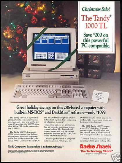 Tandy 1000 TL Computer Radio Shack (1988)