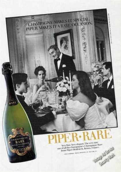 Champagne Rare Piper-heidsteck (1986)