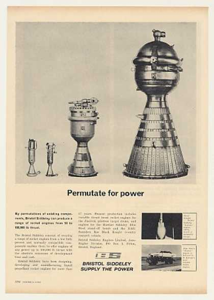 Bristol Siddeley Rocket Engines Photo (1963)