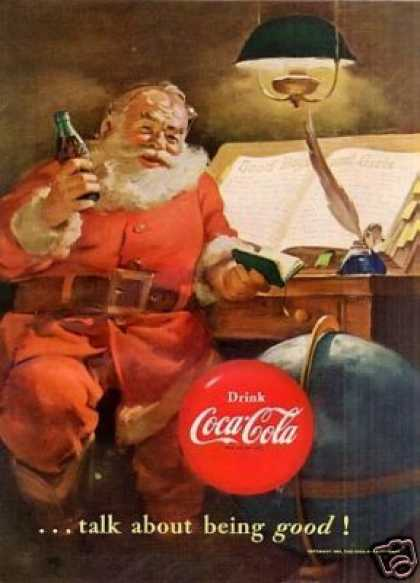 Coca-cola Ad 'talk About Being Good... (1951)