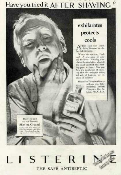 "Listerine Antiseptic ""Try It After Shaving"" (1928)"