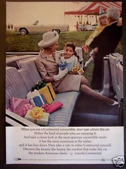 Child's Party Photo Lincoln Continental Car (1964)