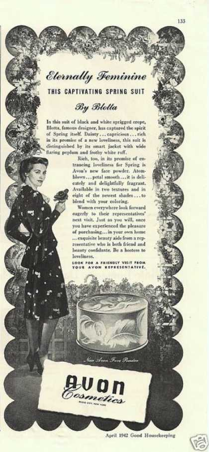 Avon Cosmetices Eternally Feminine (1942)