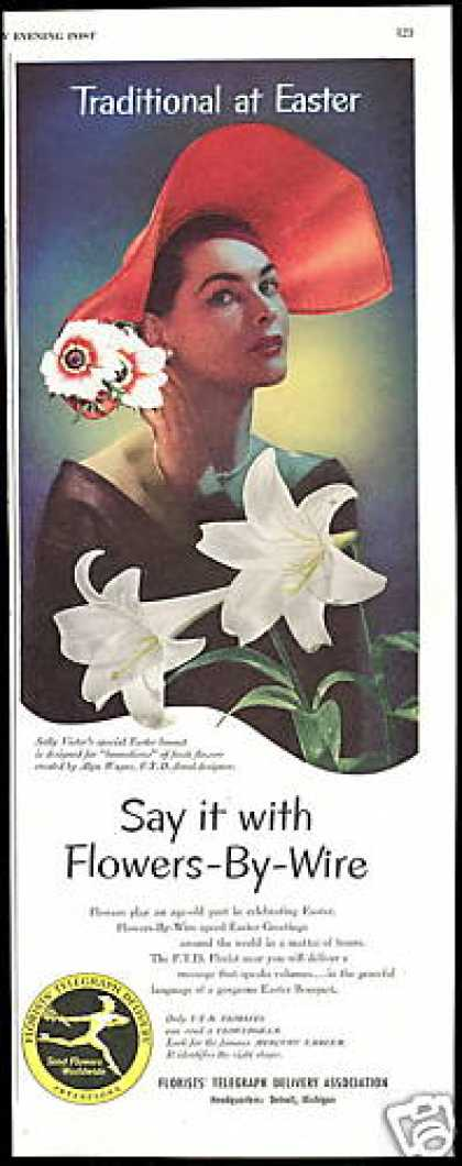FTD Florist Flowers Easter Lily Pretty Woman (1952)