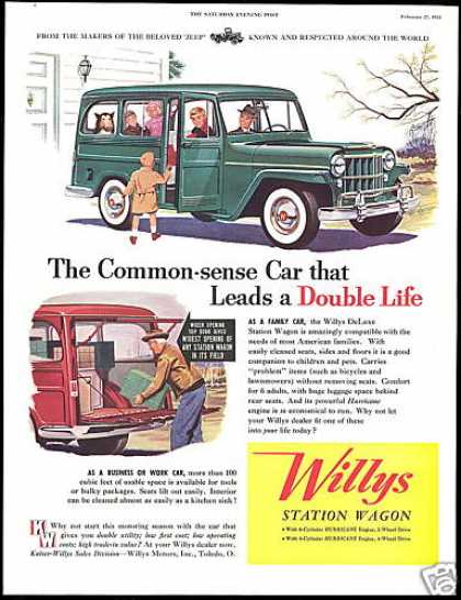 Willy Deluxe Station Wagon Vintage (1954)