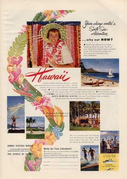 Hawaii Visitor Bureau Lei Sail Fishing (1951)