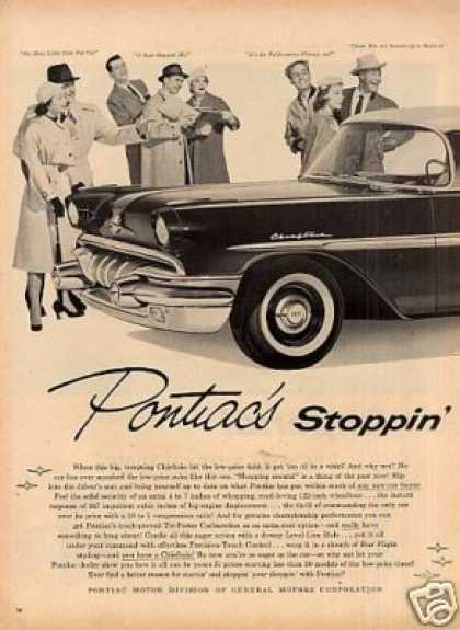 Pontiac Chieftain Car Ad 2 Page (1957)