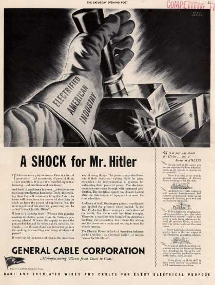 "General Cable Corporation's Army Navy ""E"" – A Shock for Mr. Hitler (1943)"
