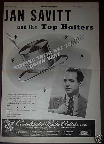Jan Savitt & the Top Hatters Down Beat Promo (1939)