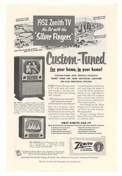 Zenith Walton FitzGerald Custom-Tuned TV (1952)