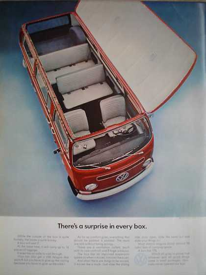 Volkswagon VW Wagon A surprise in every box (1968)