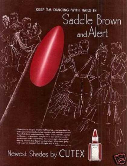 Cutex Saddle Brown Nail Polish (1942)