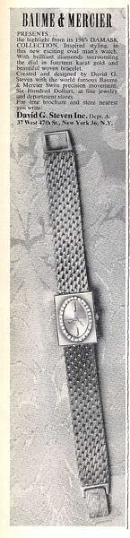 Baume & Mercier Damask Watch (1965)