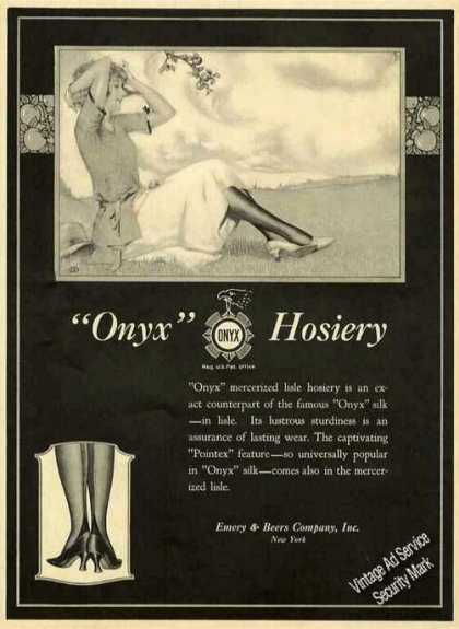"""Onyx"" Mercerized Lisle Hosiery Collectible (1921)"