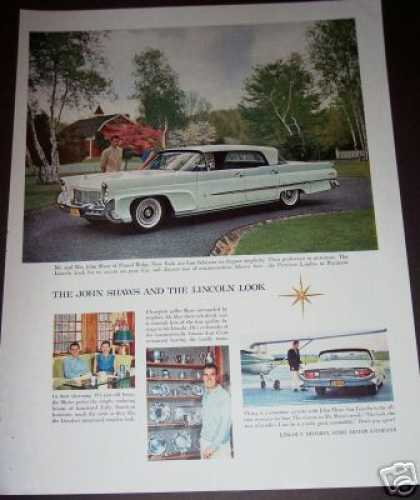 White Ford Lincoln Classic Car (1958)