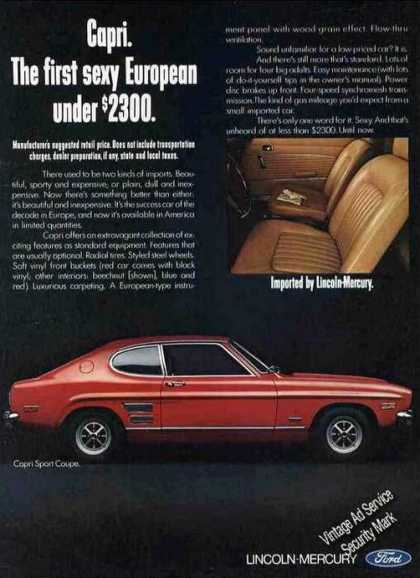 "Red Mercury Capri Sport Coupe ""Sexy European"" (1970)"
