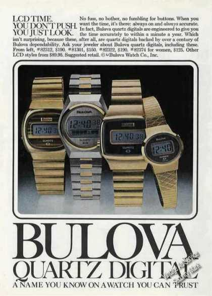 Bulova Quartz Digital Watch Photos (1978)