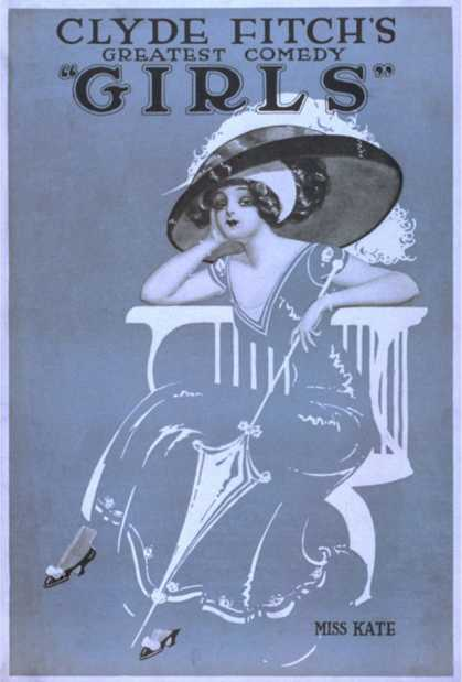 "Clyde Fitch's Greatest Comedy, ""Girls"" Theatre Poster No.2"