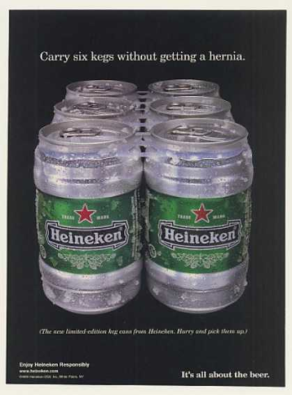 Heineken Beer Limited Edition Keg Can Six Pack (1999)