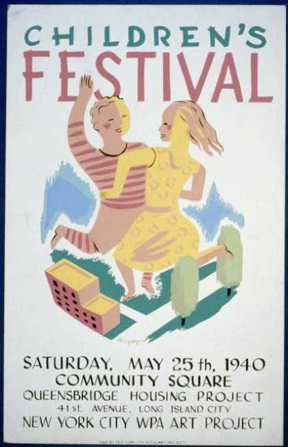 Children's festival – Saturday, May 25th, 1940, Community Square, Queensbridge Housing Project / herzog. (1940)