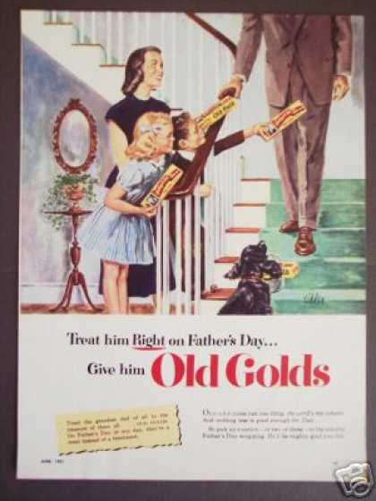 Art By Kidder Old Gold Fathers Day (1951)
