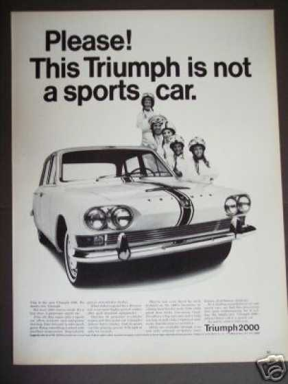 Triumph 2000 Family Sports Car Original Photo (1965)