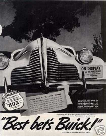 "Buick Car 2 Page Ad ""Ready Now at Its... (1940)"