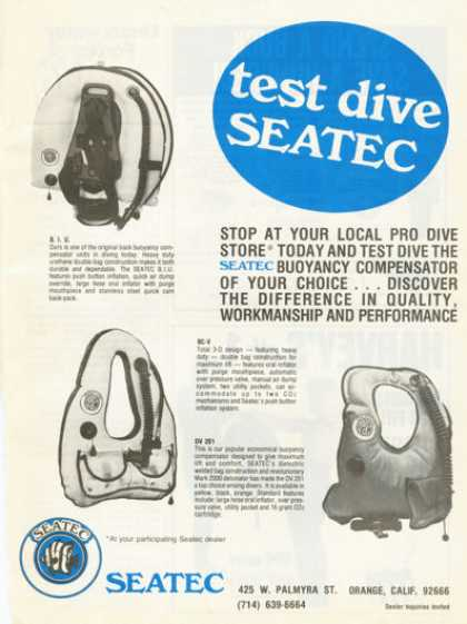 Seatec Buoyancy Compensator Vest (1977)