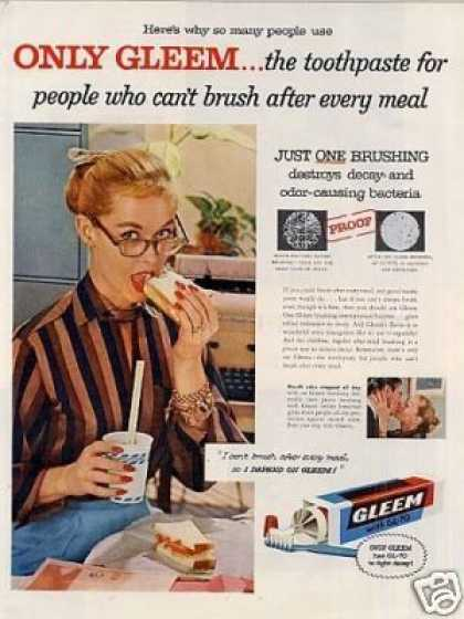 Gleem Tooth Paste (1956)