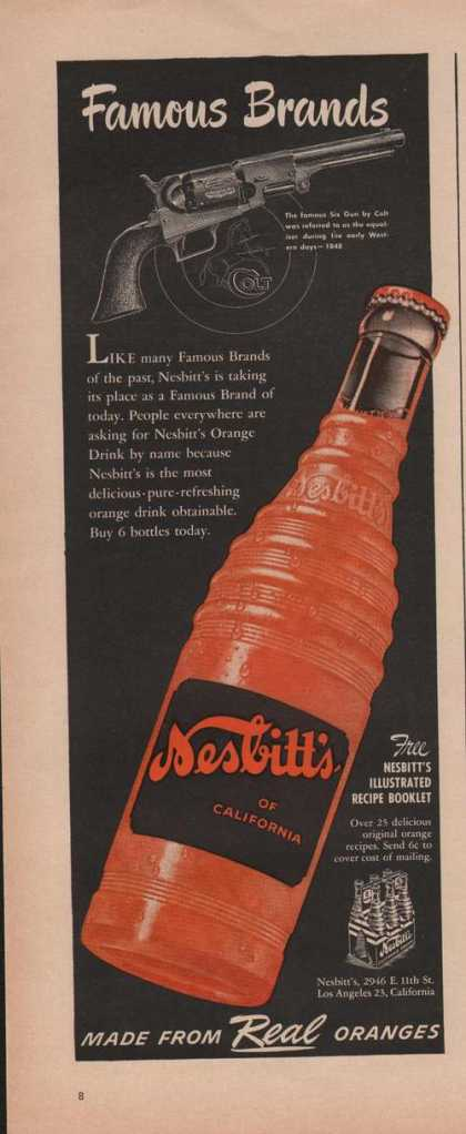 Famous Brands Nesbitts Orange Soda (1950)