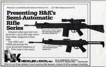 H&k Semi-automatic Rifle Series Guns (1979)