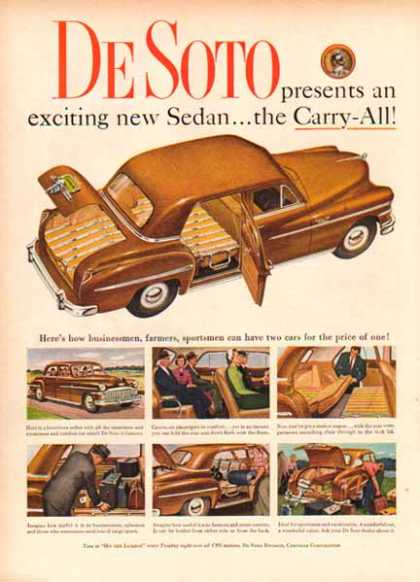 Plymouth Desoto Car – Brown Sedan (1949)
