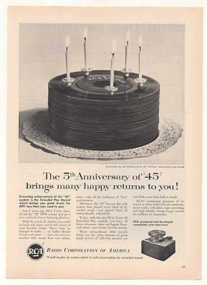 RCA 5th Anniversary of 45 Records Phonograph (1954)