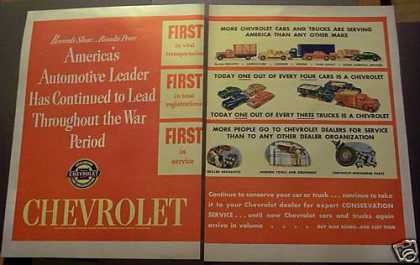 Chevrolet Car & Truck Conservation Wwii (1945)