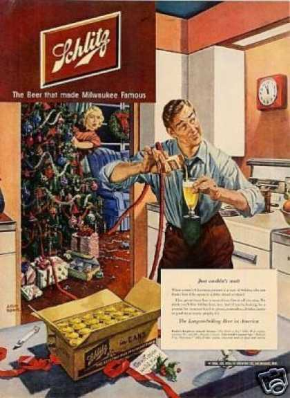"Schlitz Beer Ad ""Just Couldn't Wait... (1950)"
