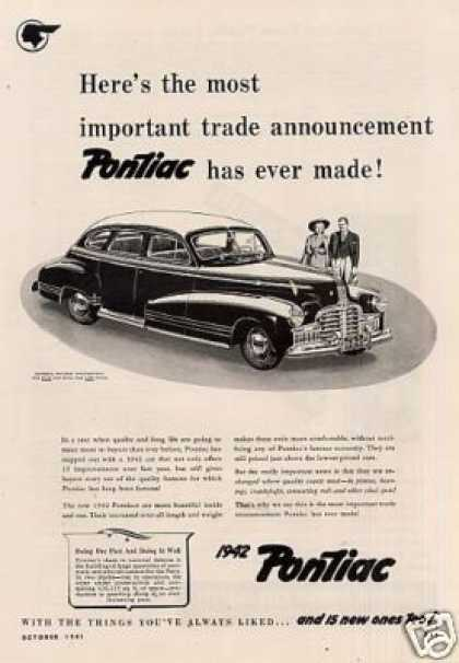 "Pontiac Car Ad ""Here's the Most... (1942)"