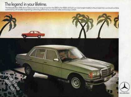 Mercedes-benz 280e Collectible Uk (1978)