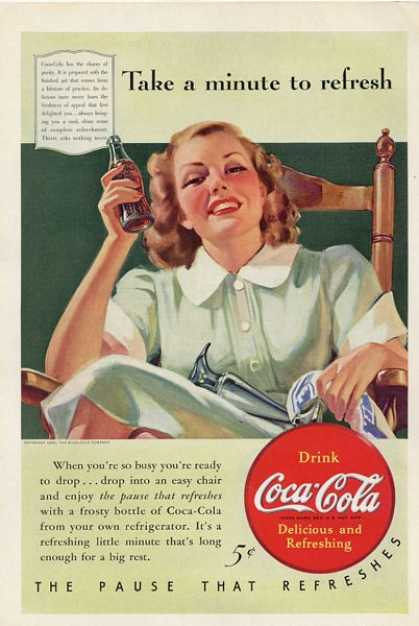 Coca Cola Coke Bottle Cap Woman T (1940)