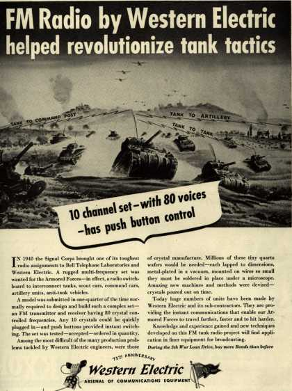 Western Electric's FM Radio – FM Radio by Western Electric helped revolutionize tank tactics (1944)