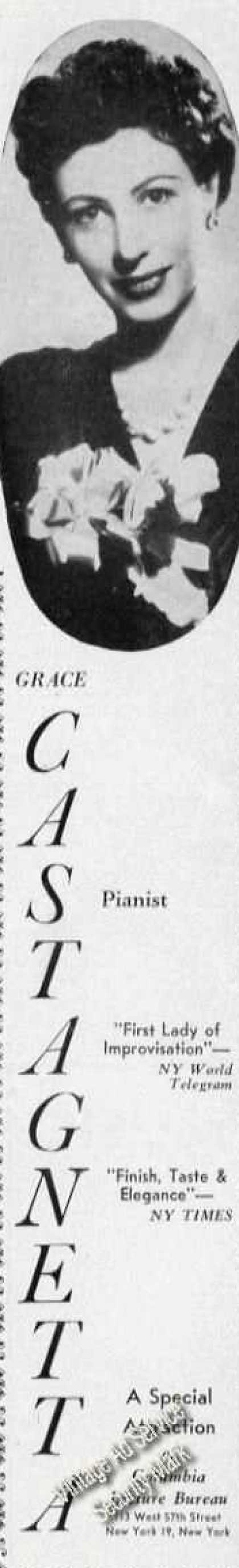 Grace Castagnetta Photo Piano Rare (1950)