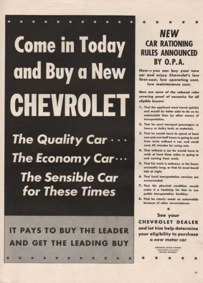 Buy a New Chevrolet Car (1942)